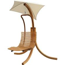 leisure season wood patio swing chaise lounge with umbrella
