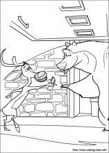 coloring pages open season 3d games movie