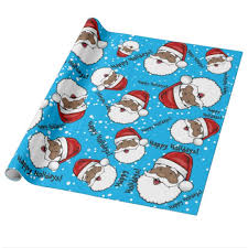 customized wrapping paper jolly ethnic santa claus customized wrapping paper zazzle
