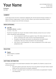 free simple resume template free resume templates
