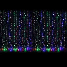 8 function multi color led christmas lights led christmas icicle string net curtain lights outdoor fairy party