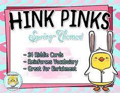 groundhog day hink pinks hinky pinkies hinkity pinkities