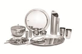 stainless steel dinnerware set from india props pinterest