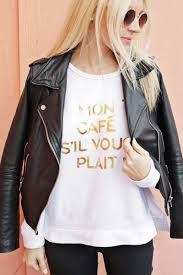How To Design Your Own Hoodie At Home Gold Foil Phrase Sweatshirt Diy U2013 A Beautiful Mess