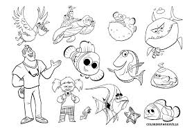 Finding Nemo Coloring Pages Bebo Pandco Nemo Color Pages