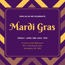 mardi gras material customize 86 mardi gras invitation templates online canva