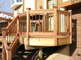 Ideas For Deck Handrail Designs Serene Without Railings Collection Including Deck Railing S