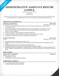 sample resume administrative executive assistant cl classic sample