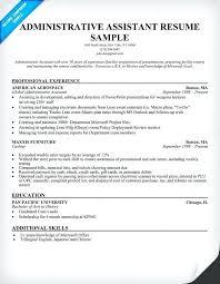 sample resume administrative sample resume administrative