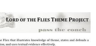 lord of the flies themes and messages lord of the flies theme project bundle by miz malowney tpt