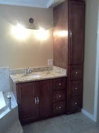 bathroom vanity with matching linen cabinet bathroom decoration