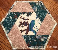 Quilted Mug Rug Pattern Twisted Hexagon Mug Rug Tutorial On Making This Easy Block Http