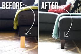 ikea bed risers furniture risers ikea use legs to make your couch look more