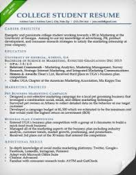 Example Resume For Internship by Redoubtable Sample Resume For College Student 3 Internship Samples