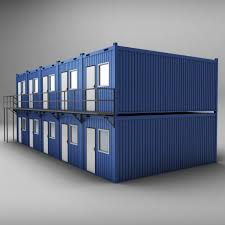 container shipping house double floor 3d model cgstudio