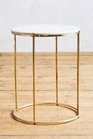 Brass Side Table Leavenworth Marble Side Table Anthropologie