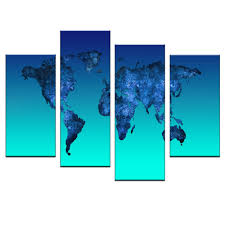 World Map Art Print by Aliexpress Com Buy Global World Map Canvas Print Painting 4