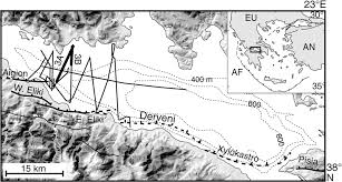 Corinth Greece Map by Active Faulting Within The Offshore Western Gulf Of Corinth
