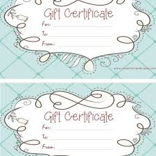 Free Printable Gift Certificate Template Word Custom Gift Certificate Template Gift Certificate Templates Free
