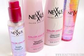 Nexxus Color Assure Pre Wash Primer - keep hair color from fading with nexxus color assure beauty 101