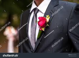 Red Rose Boutonniere Red Rose Boutonniere Pocket Groom Stock Photo 362720765 Shutterstock
