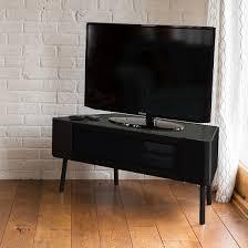 tv stand glass door norvik tv stand in black high gloss with glass door 29700