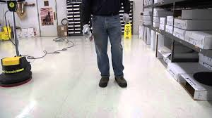 Picture Of Floor Buffer by How To Buff A Floor Spray Buffing U0026 Burnishing Youtube