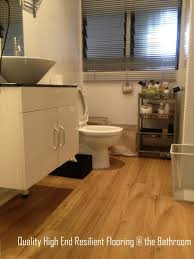 breaking traditions high end resilient flooring the bathroom