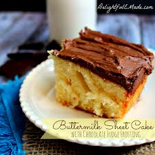 buttermilk sheet cake with chocolate fudge frosting delightful e