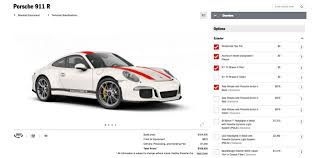 porsche 911 configurator use the configurator to mix and match options for your