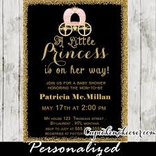 royal princess baby shower theme chalkboard gold glitter royal princess baby shower invitation