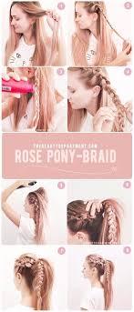easiest type of diy hair braiding rose pony braid diy hair pony and hair style