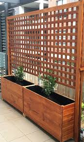 2x timber garden planter box for balconies terrace and patios