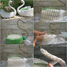 diy swan planter idea home design garden u0026 architecture blog