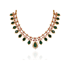 emerald gold necklace images Nac product detail ethnic emerald gold necklace png