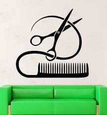 hair spa beauty salon wall sticker decals home decor lounge lounge beauty salon scissors comb decal