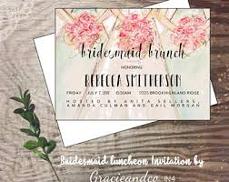 bridesmaids luncheon invitation luncheon invitation etsy