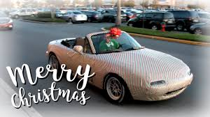 car wrapped in wrapping paper wrapping paper miata