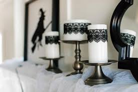 halloween candels halloween decorating ideas how to make black lace candles how