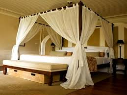 White Canopy Bed Curtains Placing Canopy Bed Curtains Jen Joes Design Intended For Brilliant
