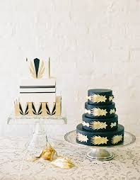 art deco wedding cakes by jen huang photography laura c george