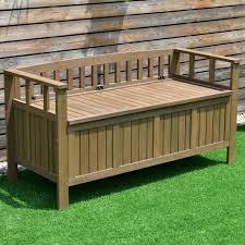 Outside Storage Bench Outdoor Wood Patio Storage Bench Balcony Storage Shed Garden