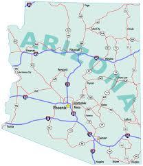State Map Of Arizona by Map Of Arizona