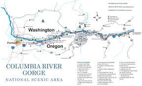 Oregon Waterfalls Map by Columbia River Gorge Hiking Trail Maps U2013 Taconic Golf Club