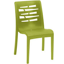 Stackable Plastic Patio Chairs by Grosfillex Us218152 Us812152 Essenza Fern Green Resin Indoor