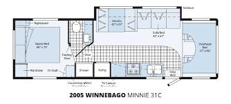 coachmen class c motorhome floor plans 2005 winnebago minnie 31c u2013 stock m00098 the rv man