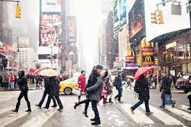 photographers in nyc new york city wintery times square engagement session nyc by