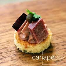 cuisine canapé duck liver smoked duck plum brioche canapés