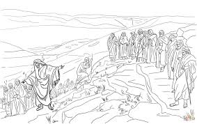 jesus chooses twelve disciples coloring page free printable