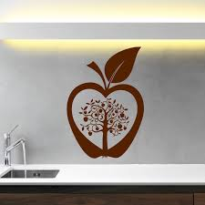 kitchen apple tree flower modern wall art sticker decal transfer kitchen apple tree flower modern wall art sticker